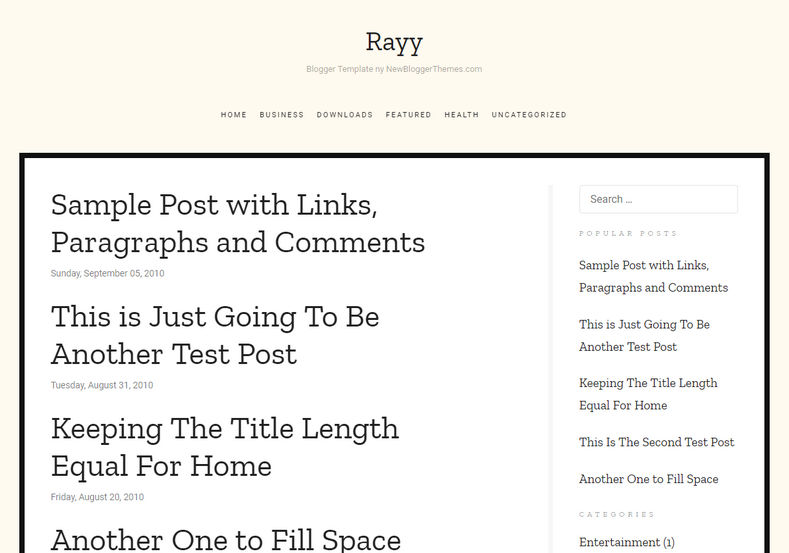 Rayy Blogger Template is a simple and minimal free blogger template which is very responsive and fast loading blogspot theme