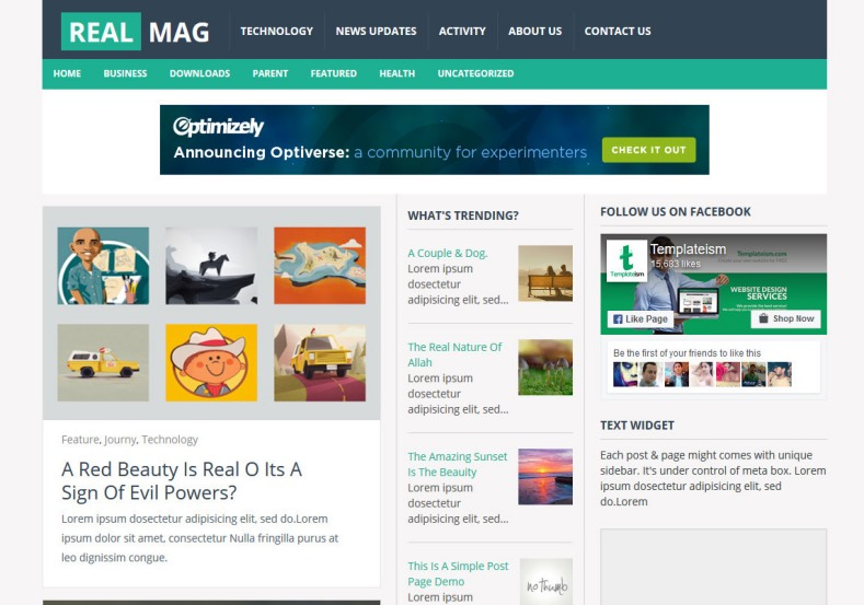 Templates For Blog | Realmag Responsive Blogger Template 2014 Free Blogger Templates