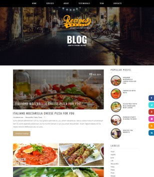 Recipes Blogger Templates