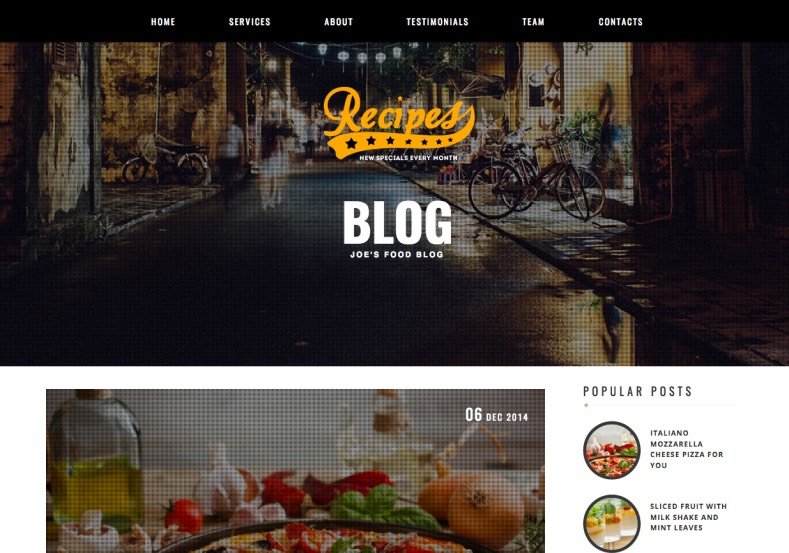Recipes Blogger Template. Blogger Themes. Best suitable for news blog templates. Ads ready blogspot templates help for add adsense ad code and easily showing adsence ads in your blog. Adapted from WordPress templates are converted from WordPress themes. It is help for take your rich. Blogger magazine template specially designed for magazine blogs. The writers can utilize this themes for take blog attractive to users. Elegant themes are more used themes in most of the blogs. Minimalist blog templates. Free premium blogger themes means, themes authors release two types of themes. One is premium another one is free. Premium templates given for cost but free themes given for no cost. You no need pay From California, USA. $10 USD, or $20 USD and more. But premium buyers get more facilities from authors But free buyers. If you run game or other animation oriented blogs, and you can try with Anime blog templates. Today the world is fashion world. So girls involve to the criteria for make their life fashionable. So we provide fashion blogger themes for make your fashionable. News is most important concept of the world. Download news blogger templates for publishing online news. You can make your blog as online shopping store. Get Online shopping store blogger template to sell your product. Navigation is most important to users find correct place. Download drop down menu, page navigation menu, breadcrumb navigation menu and vertical dropdown menu blogspot themes for free. Google Guide. Blogging tips and Tricks for bloggers. Google bloggers can get blogspot trick and tips for bloggers. Blog templates portfolio professional blogspot themes, You can store your life moments with your blogs with personal pages templates. Video and movie blogs owners get amazing movie blog themes for their blogs.  Business templates download. We publish blogger themes for photographers.  Photographers easily share photos via photography blog themes. St valentine Christmas Halloween templates. Download Slideshow slider templates for free.  Under construction coming soon custom blogspot template. Best beautiful high quality Custom layouts Blog templates from templateism, soratemplates, templatetrackers, simple, cute free premium professional unique designs blog themes blogspot themes. Seo ready portfolio anime fashion movie movies health custom layouts best download blogspot themes simple cute free premium professional unique designs xml html code html5.