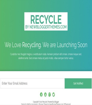 Recycle Cooming soon Blogger Templates