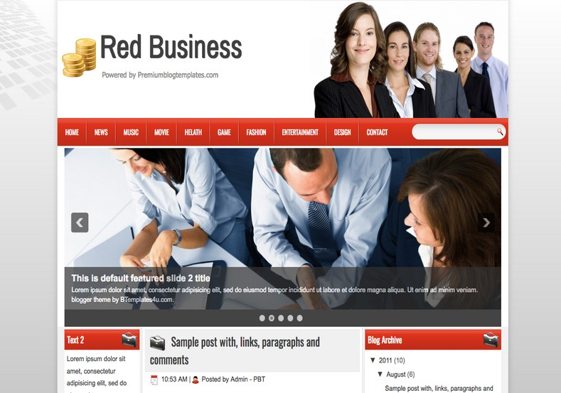 Red business blogger template 2014 free download blogger templates red business blogger template flashek Image collections