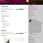 Red Corst Blogger Templates
