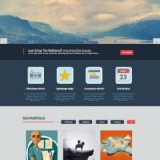 Red Hood Portfolio Blogger Templates