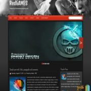 RedGames Responsive Blogger Templates