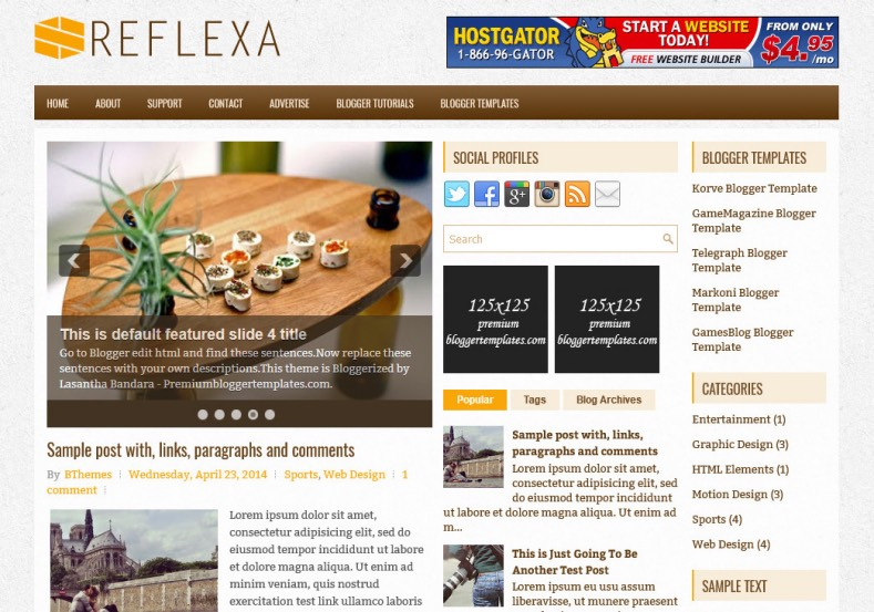 Reflexa Blogger Template. Blogger Themes. Best suitable for news blog templates. Ads ready blogspot templates help for add adsense ad code and easily showing adsence ads in your blog. Adapted from WordPress templates are converted from WordPress themes. It is help for take your rich. Blogger magazine template specially designed for magazine blogs. The writers can utilize this themes for take blog attractive to users. Elegant themes are more used themes in most of the blogs. Minimalist blog templates. Free premium blogger themes means, themes authors release two types of themes. One is premium another one is free. Premium templates given for cost but free themes given for no cost. You no need pay From California, USA. $10 USD, or $20 USD and more. But premium buyers get more facilities from authors But free buyers. If you run game or other animation oriented blogs, and you can try with Anime blog templates. Today the world is fashion world. So girls involve to the criteria for make their life fashionable. So we provide fashion blogger themes for make your fashionable. News is most important concept of the world. Download news blogger templates for publishing online news. You can make your blog as online shopping store. Get Online shopping store blogger template to sell your product. Navigation is most important to users find correct place. Download drop down menu, page navigation menu, breadcrumb navigation menu and vertical dropdown menu blogspot themes for free. Google Guide. Blogging tips and Tricks for bloggers. Google bloggers can get blogspot trick and tips for bloggers. Blog templates portfolio professional blogspot themes, You can store your life moments with your blogs with personal pages templates. Video and movie blogs owners get amazing movie blog themes for their blogs. Business templates download. We publish blogger themes for photographers. Photographers easily share photos via photography blog themes. St valentine Christmas Halloween templates. Download Slideshow slider templates for free. Under construction coming soon custom blogspot template. Best beautiful high quality Custom layouts Blog templates from templateism, SoraTemplates, templatetrackers, simple, cute free premium professional unique designs blog themes blogspot themes. Seo ready portfolio anime fashion movie movies health custom layouts best download blogspot themes simple cute free premium professional unique designs xml html code html5.
