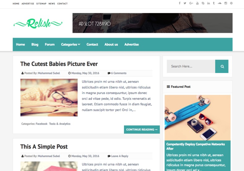 Relish Blogger Template