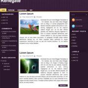 Renegate Blogger Templates
