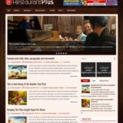 RestaurantPlus Blogger Templates