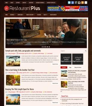 RestaurantPlus Blogger Templates