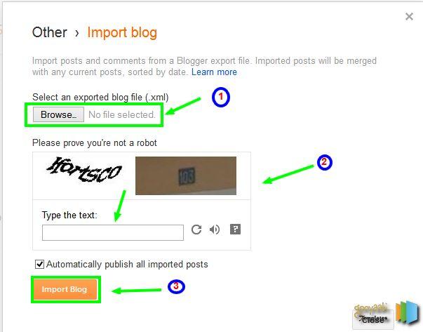 Restore Blogger Blog