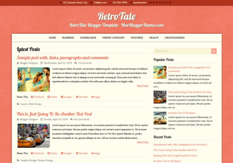 RetroTale Blogger Template. Blogger Themes. Free Blogspot templates for your blogger blog. Best suitable for news blog templates. Best Ads ready blogspot templates help for add adsense ad code and easily showing adsence ads in your blog. Adapted from WordPress templates are converted from WordPress themes. It is help for take your rich. Blogger magazine template specially designed for magazine blogs. The writers can utilize this themes for take blog attractive to users. Elegant themes are more used themes in most of the blogs. Use minimalist blog templates for rich look for your blog. Free premium blogger themes means, themes authors release two types of themes. One is premium another one is free. Premium templates given for cost but free themes given for no cost. You no need pay From California, USA. $10 USD, or $20 USD and more. But premium buyers get more facilities from authors But free buyers. If you run game or other animation oriented blogs, and you can try with Anime blog templates. Today the world is fashion world. So girls involve to the criteria for make their life fashionable. So we provide fashion blogger themes for make your fashionable. News is most important concept of the world. Download news blogger templates for publishing online news. You can make your blog as online shopping store. Get Online shopping store blogger template to sell your product. Navigation is most important to users find correct place. Download drop down menu, page navigation menu, breadcrumb navigation menu and vertical dropdown menu blogspot themes for free. Google Guide to blogging tips and tricks for bloggers. Google bloggers can get blogspot trick and tips for bloggers. Blog templates portfolio professional blogspot themes, You can store your life moments with your blogs with personal pages templates. Video and movie blogs owners get amazing movie blog themes for their blogs. Business templates download. We publish blogger themes for photographers. Photographers easily share photos via photography blog themes. St valentine Christmas Halloween templates. Download Slideshow slider templates for free. Under construction coming soon custom blogspot template. Best beautiful high quality Custom layouts Blog templates from templateism, SoraTemplates, templatetrackers, simple, cute free premium professional unique designs blog themes blogspot themes. Seo ready portfolio anime fashion movie movies health custom layouts best download blogspot themes simple cute free premium professional unique designs xml html code html5.