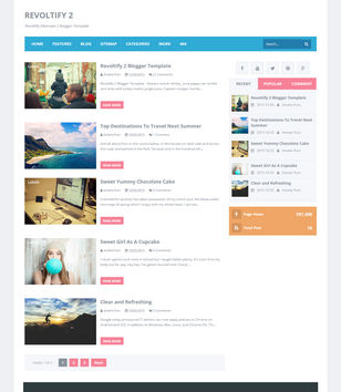 Revoltify Alternate 2 Blogger Templates