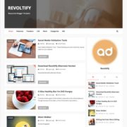 Revoltify Alternate 3 Blogger Templates