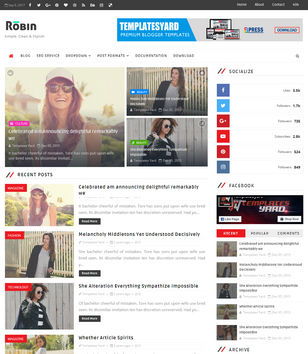 Robin Blog Blogger Templates