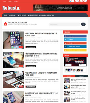 Robusta Blogger Templates