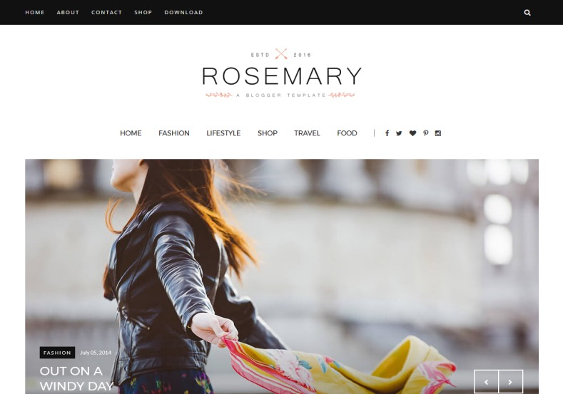 Rosemary Fashion Blogger Template. Download our brand new free blogger templates 2016 and get new blogging experience with getting lot of users. Rosemary Fashion Blogger Template.