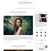 Rosemary Minimal Blogger Templates