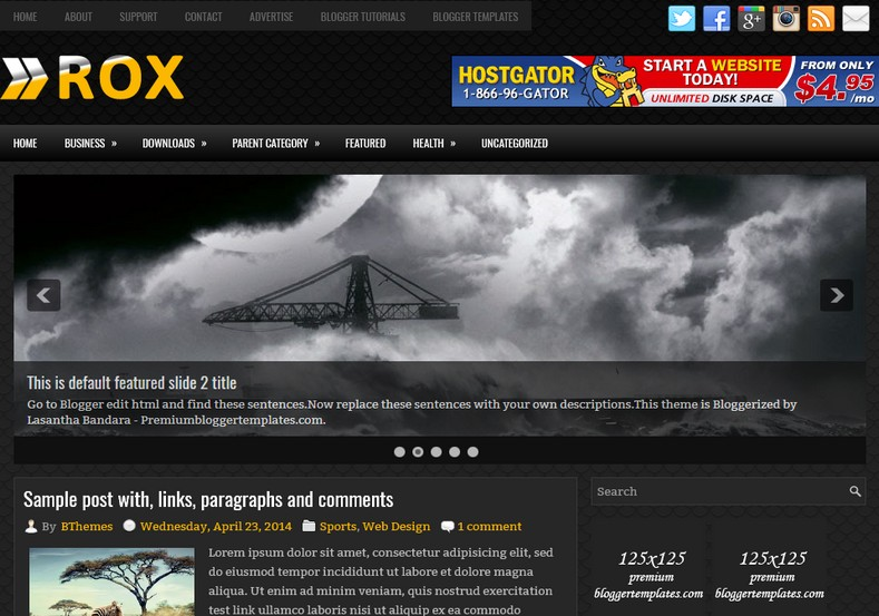 Rox Blogger Template. Blogger Themes. Free Blogspot templates for your blogger blog. Best suitable for news blog templates. Ads ready blogspot templates help for add adsense ad code and easily showing adsence ads in your blog. Adapted from WordPress templates are converted from WordPress themes. It is help for take your rich. Blogger magazine template specially designed for magazine blogs. The writers can utilize this themes for take blog attractive to users. Elegant themes are more used themes in most of the blogs. Minimalist blog templates. Free premium blogger themes means, themes authors release two types of themes. One is premium another one is free. Premium templates given for cost but free themes given for no cost. You no need pay From California, USA. $10 USD, or $20 USD and more. But premium buyers get more facilities from authors But free buyers. If you run game or other animation oriented blogs, and you can try with Anime blog templates. Today the world is fashion world. So girls involve to the criteria for make their life fashionable. So we provide fashion blogger themes for make your fashionable. News is most important concept of the world. Download news blogger templates for publishing online news. You can make your blog as online shopping store. Get Online shopping store blogger template to sell your product. Navigation is most important to users find correct place. Download drop down menu, page navigation menu, breadcrumb navigation menu and vertical dropdown menu blogspot themes for free. Google Guide. Blogging tips and Tricks for bloggers. Google bloggers can get blogspot trick and tips for bloggers. Blog templates portfolio professional blogspot themes, You can store your life moments with your blogs with personal pages templates. Video and movie blogs owners get amazing movie blog themes for their blogs. Business templates download. We publish blogger themes for photographers. Photographers easily share photos via photography blog themes. St valentine Christmas Halloween templates. Download Slideshow slider templates for free. Under construction coming soon custom blogspot template. Best beautiful high quality Custom layouts Blog templates from templateism, SoraTemplates, templatetrackers, simple, cute free premium professional unique designs blog themes blogspot themes. Seo ready portfolio anime fashion movie movies health custom layouts best download blogspot themes simple cute free premium professional unique designs xml html code html5.