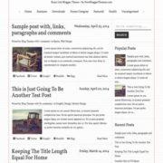 Runo Lite Responsive Blogger Templates