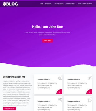 Saas Blog Blogger Templates