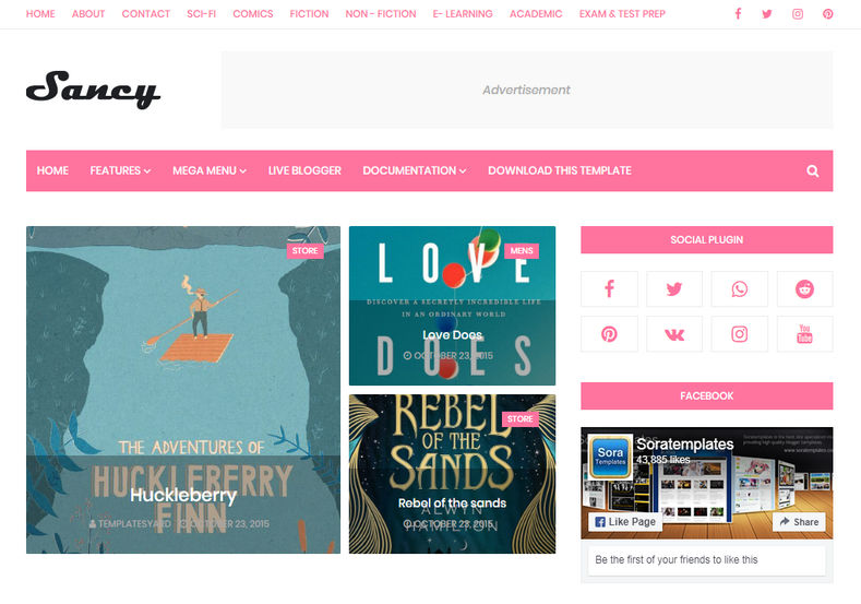 Sancy Blogger Template is a beautifully designed and perfectly built stylish elegant looking fashion blogger theme with responsive and seo friendly design
