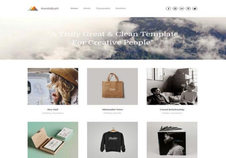 Sandal Jepit Blogger Template 2015 buy premium template