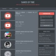 Sands of Time Dark Responsive Blogger Template