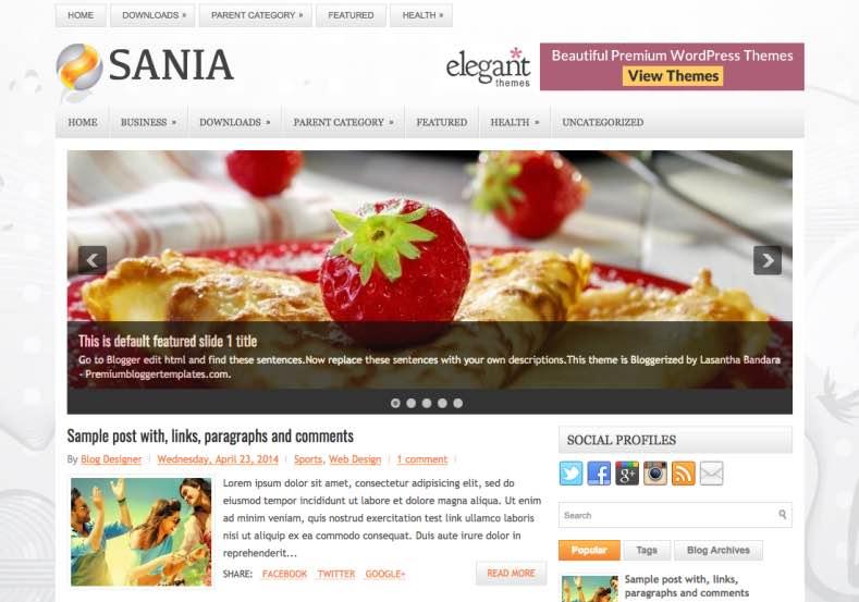 Sania Responsive Blogger Template. Blogger templates 2015. Free blogger templates. blogspot themes