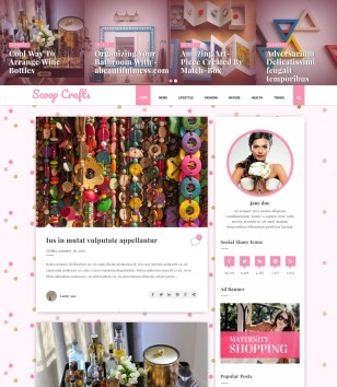 Scoop Crafts Blogger Templates