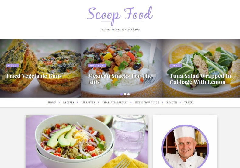 Scoop Food Responsive Blogger Template. Blogger Themes. Free Blogspot templates for your blogger blog. Best suitable for news blog templates. Ads ready blogspot templates help for add adsense ad code and easily showing adsence ads in your blog. Adapted from WordPress templates are converted from WordPress themes. It is help for take your rich. Blogger magazine template specially designed for magazine blogs. The writers can utilize this themes for take blog attractive to users. Elegant themes are more used themes in most of the blogs. Use minimalist blog templates for rich look for your blog. Free premium blogger themes means, themes authors release two types of themes. One is premium another one is free. Premium templates given for cost but free themes given for no cost. You no need pay From California, USA. $10 USD, or $20 USD and more. But premium buyers get more facilities from authors But free buyers. If you run game or other animation oriented blogs, and you can try with Anime blog templates. Today the world is fashion world. So girls involve to the criteria for make their life fashionable. So we provide fashion blogger themes for make your fashionable. News is most important concept of the world. Download news blogger templates for publishing online news. You can make your blog as online shopping store. Get Online shopping store blogger template to sell your product. Navigation is most important to users find correct place. Download drop down menu, page navigation menu, breadcrumb navigation menu and vertical dropdown menu blogspot themes for free. Google Guide to blogging tips and tricks for bloggers. Google bloggers can get blogspot trick and tips for bloggers. Blog templates portfolio professional blogspot themes, You can store your life moments with your blogs with personal pages templates. Video and movie blogs owners get amazing movie blog themes for their blogs. Business templates download. We publish blogger themes for photographers. Photographers easi