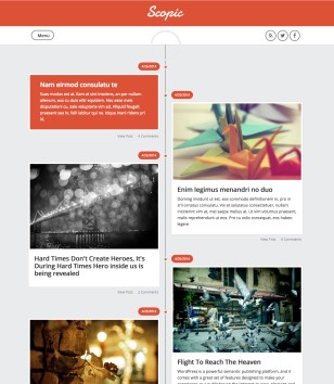 Scopic Responsive Blogger Templates
