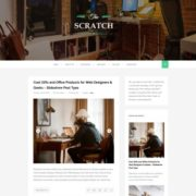 Scratch Green Responsive Blogger Templates