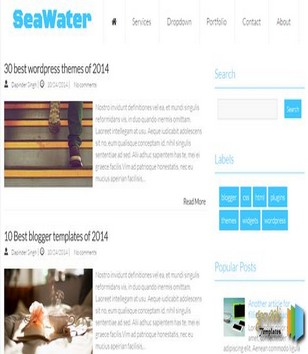 SeaWater Blogger Templates