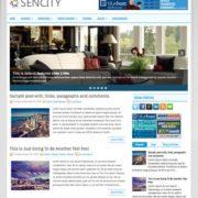 Sencity Blogger Templates