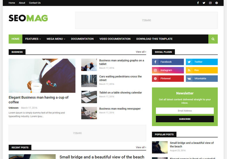 Seo Mag Blogger Template is a well built niche blogger theme made with latest trends and high seo quality codes with fast loading design