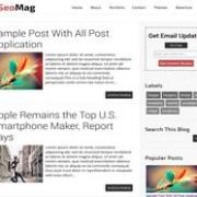 SeoMag Responsive Blogger Template