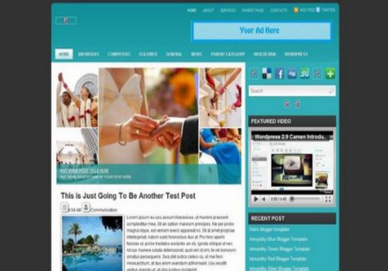 Sevim Blogger Template best place for download free blogger thmes