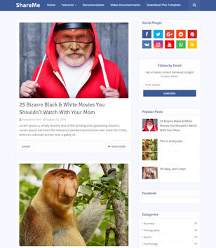 ShareMe Blogger Templates