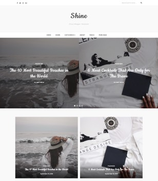 Shine Blogger Templates