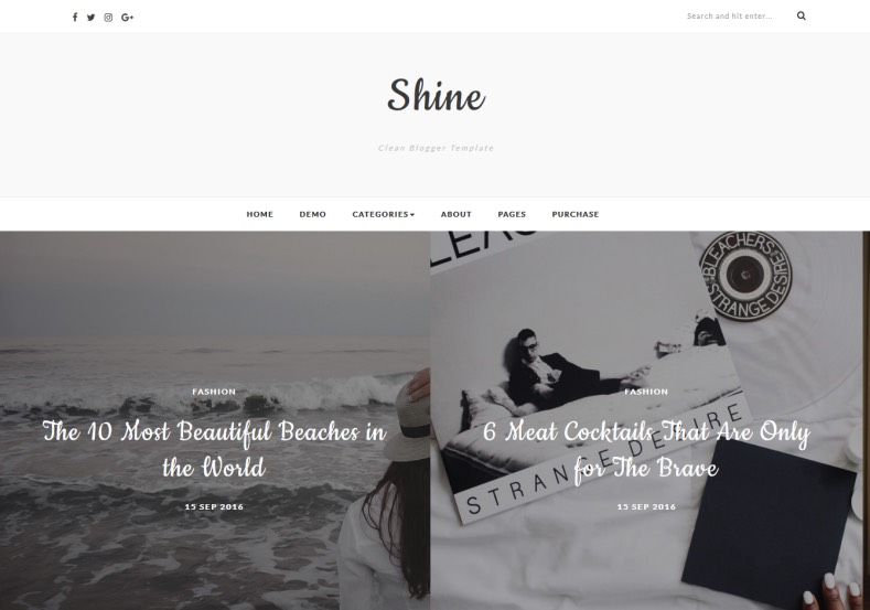 shine-blogger-template. Themeswear designed and released amazing eye caching template for blogger blog. Best quality blogger templates 2017 with best slider. shine-blogger-template.