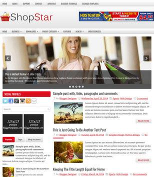 ShopStar Blogger Templates