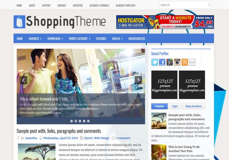 ShoppingTheme Blogger Template. Blogger Themes. Best suitable for news blog templates. Ads ready blogspot templates help for add adsense ad code and easily showing adsence ads in your blog. Adapted from WordPress templates are converted from WordPress themes. It is help for take your rich. Blogger magazine template specially designed for magazine blogs. The writers can utilize this themes for take blog attractive to users. Elegant themes are more used themes in most of the blogs. Minimalist blog templates. Free premium blogger themes means, themes authors release two types of themes. One is premium another one is free. Premium templates given for cost but free themes given for no cost. You no need pay From California, USA. $10 USD, or $20 USD and more. But premium buyers get more facilities from authors But free buyers. If you run game or other animation oriented blogs, and you can try with Anime blog templates. Today the world is fashion world. So girls involve to the criteria for make their life fashionable. So we provide fashion blogger themes for make your fashionable. News is most important concept of the world. Download news blogger templates for publishing online news. You can make your blog as online shopping store. Get Online shopping store blogger template to sell your product. Navigation is most important to users find correct place. Download drop down menu, page navigation menu, breadcrumb navigation menu and vertical dropdown menu blogspot themes for free. Google Guide. Blogging tips and Tricks for bloggers. Google bloggers can get blogspot trick and tips for bloggers. Blog templates portfolio professional blogspot themes, You can store your life moments with your blogs with personal pages templates. Video and movie blogs owners get amazing movie blog themes for their blogs. Business templates download. We publish blogger themes for photographers. Photographers easily share photos via photography blog themes. St valentine Christmas Halloween templates. Download Slideshow slider templates for free. Under construction coming soon custom blogspot template. Best beautiful high quality Custom layouts Blog templates from templateism, SoraTemplates, templatetrackers, simple, cute free premium professional unique designs blog themes blogspot themes. Seo ready portfolio anime fashion movie movies health custom layouts best download blogspot themes simple cute free premium professional unique designs xml html code html5.