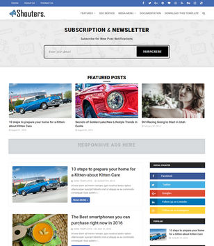 Shouters Blogger Templates