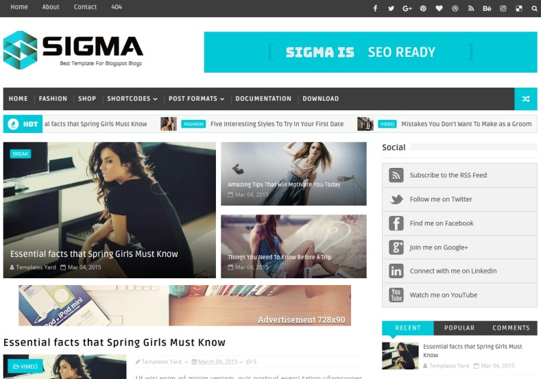 Sigma Blogger Template. Amazing newly designed blogger templates 2017 for renovating your blogger blog. Template give new and eye cashing look for your blog blog Sigma Blogger Template.