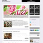 Silver Magazine Blogger Templates