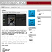 Silver Motion Blogger Templates
