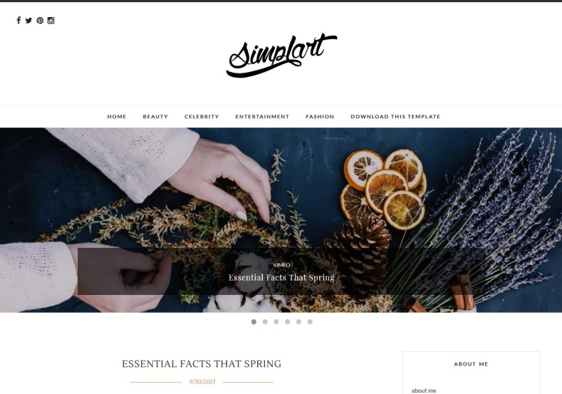 Simplart Blogger Template. Blogger Themes. Free Blogspot templates for your blogger blog. Best suitable for news blog templates. Best Ads ready blogspot templates help for add adsense ad code and easily showing adsence ads in your blog. Adapted from WordPress templates are converted from WordPress themes. It is help for take your rich. Blogger magazine template specially designed for magazine blogs. The writers can utilize this themes for take blog attractive to users. Elegant themes are more used themes in most of the blogs. Use minimalist blog templates for rich look for your blog. Free premium blogger themes means, themes authors release two types of themes. One is premium another one is free. Premium templates given for cost but free themes given for no cost. You no need pay From California, USA. $10 USD, or $20 USD and more. But premium buyers get more facilities from authors But free buyers. If you run game or other animation oriented blogs, and you can try with Anime blog templates. Today the world is fashion world. So girls involve to the criteria for make their life fashionable. So we provide fashion blogger themes for make your fashionable. News is most important concept of the world. Download news blogger templates for publishing online news. You can make your blog as online shopping store. Get Online shopping store blogger template to sell your product. Navigation is most important to users find correct place. Download drop down menu, page navigation menu, breadcrumb navigation menu and vertical dropdown menu blogspot themes for free. Google Guide to blogging tips and tricks for bloggers. Google bloggers can get blogspot trick and tips for bloggers. Blog templates portfolio professional blogspot themes, You can store your life moments with your blogs with personal pages templates. Video and movie blogs owners get amazing movie blog themes for their blogs. Business templates download. We publish blogger themes for photographers. Photographers easily share photos via photography blog themes. St valentine Christmas Halloween templates. Download Slideshow slider templates for free. Under construction coming soon custom blogspot template. Best beautiful high quality Custom layouts Blog templates from templateism, soratemplates, templatetrackers, simple, cute free premium professional unique designs blog themes blogspot themes. Seo ready portfolio anime fashion movie movies health custom layouts best download blogspot themes simple cute free premium professional unique designs xml html code html5. Simplart Blogger Template