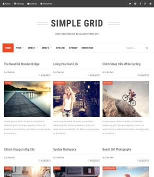 Simple Grid Blogger Templates