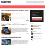 Simple Tech Blogger Templates